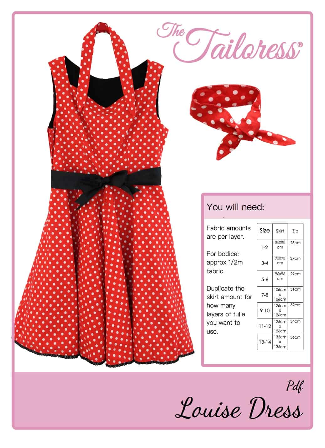 The Tailoress PDF Sewing Patterns - Louise Dress Tutorial