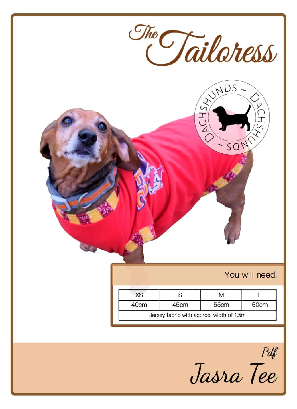 The Tailoress PDF Sewing Patterns - Jasra Tee for Dachshunds Tutorial