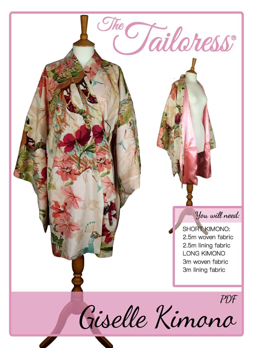 The Tailoress PDF Sewing Patterns - Giselle Kimono Tutorial