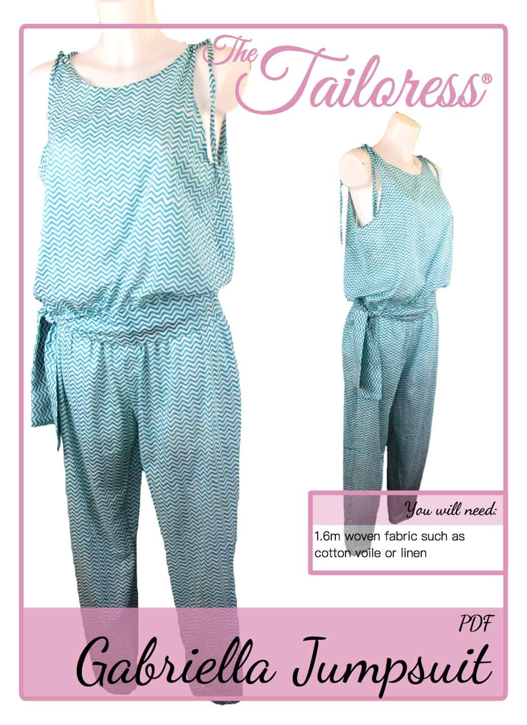 The Tailoress PDF Sewing Patterns - Gabriella Jumpsuit Tutorial