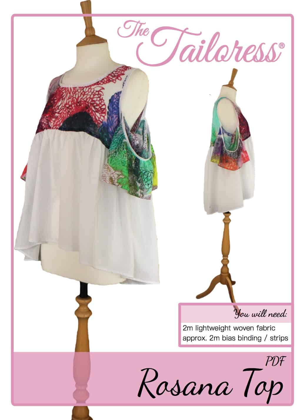 The Tailoress PDF Sewing Patterns - Rosana Top Tutorial
