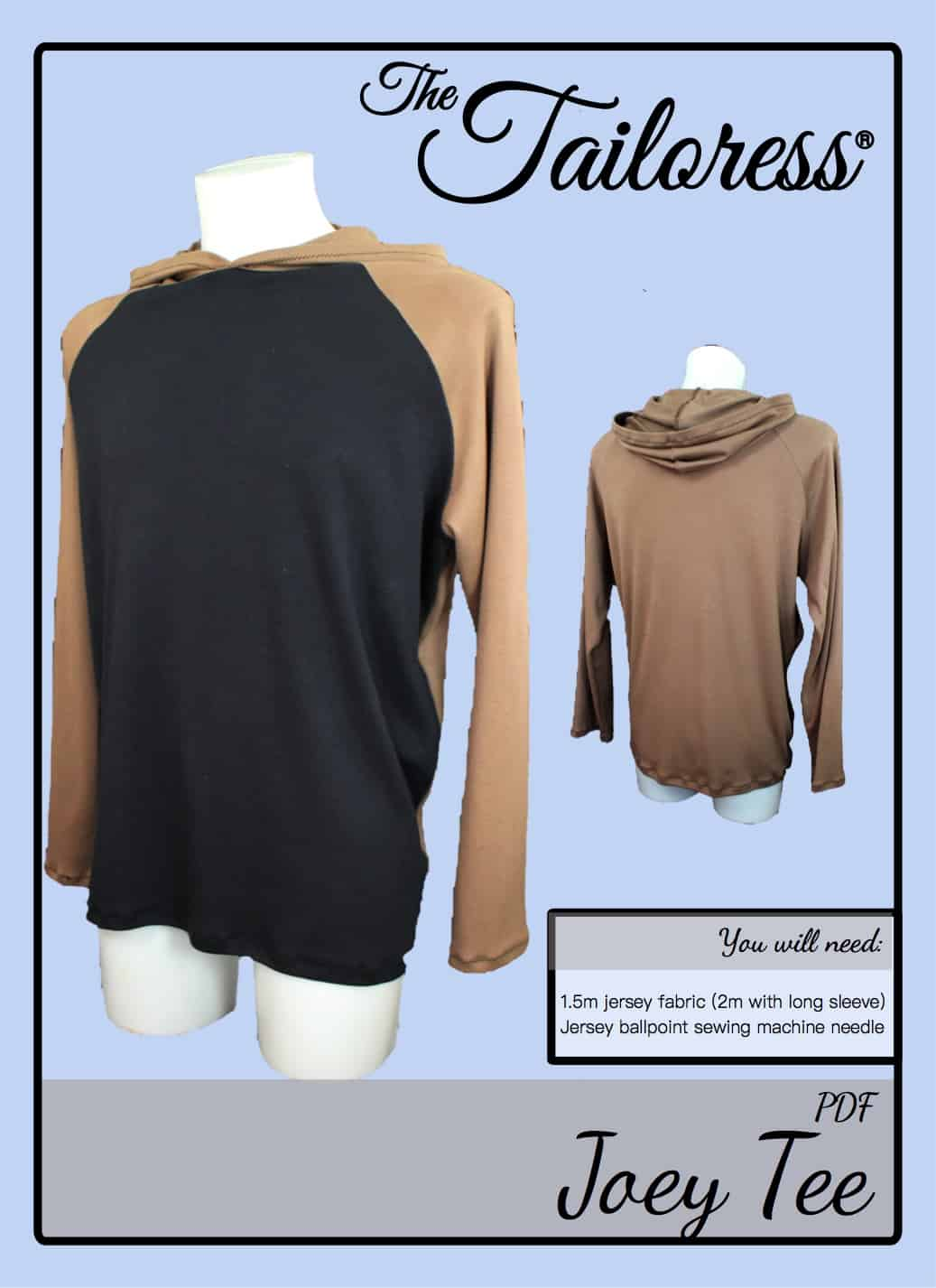 The Tailoress PDF Sewing Patterns - Joey Tee Tutorial