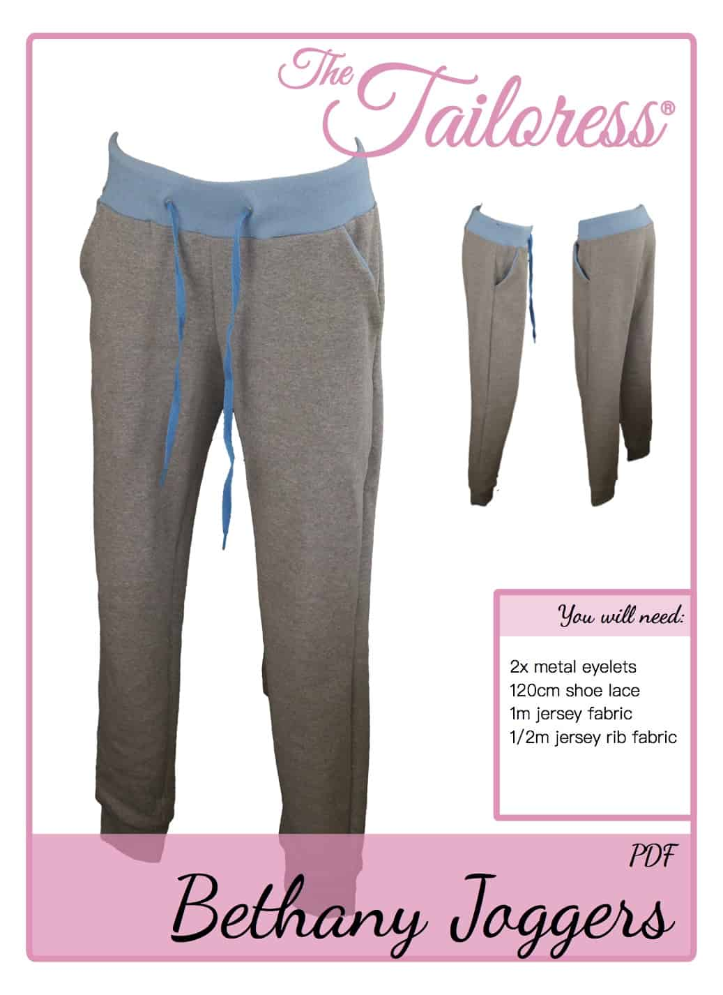 The Tailoress PDF Sewing Patterns - Bethany Joggers Tutorial