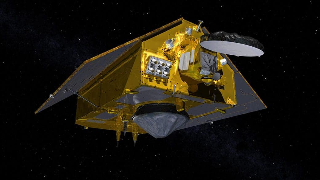 Artistic rendering of the Sentinel-6 Michael Freilich satellite. Image: Credits: NASA/JPL-Caltech