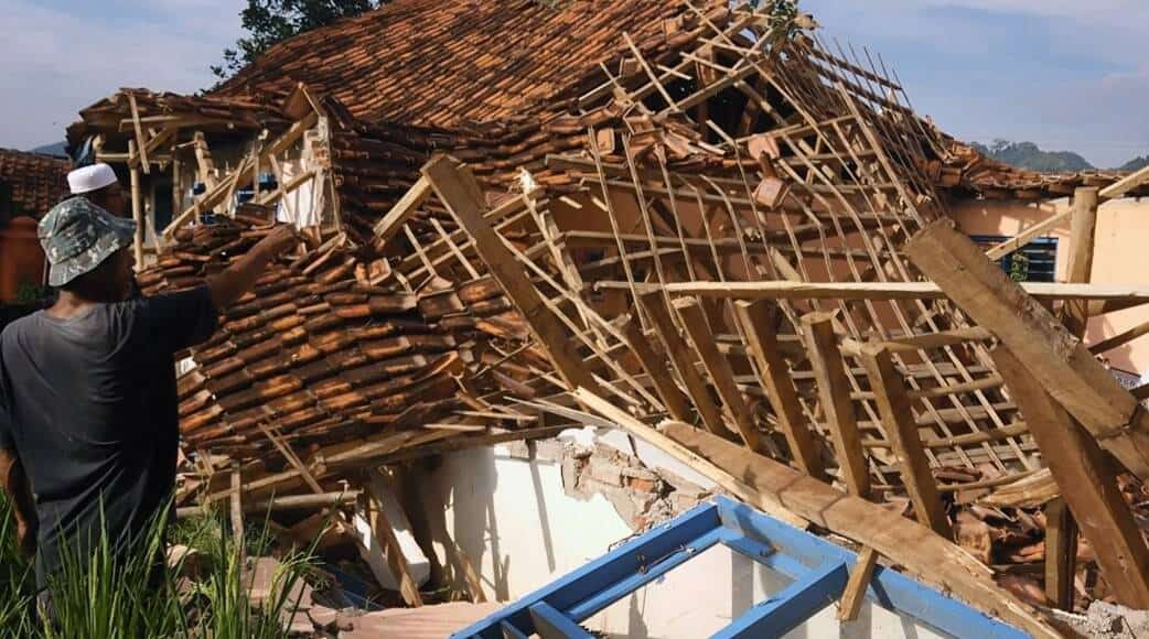 Bangunan PAUD Melati 5 yang ambruk