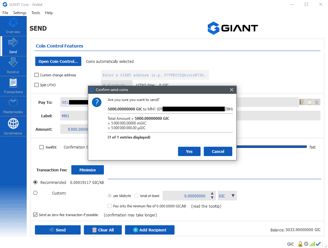 Giant Windows VPS Masternode Setup