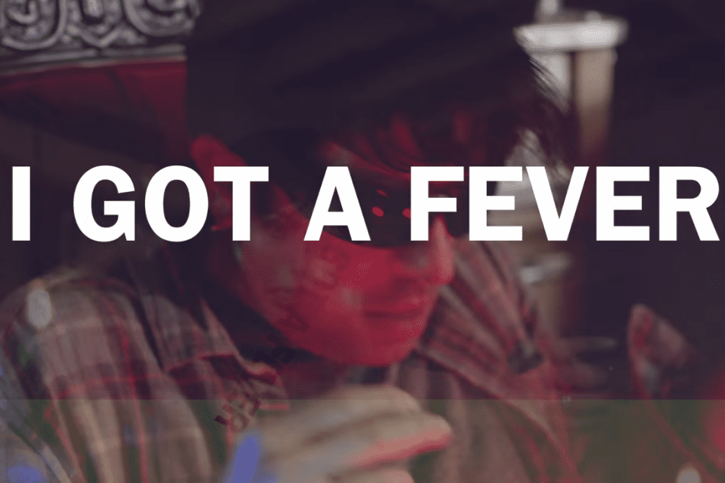 """Screenshot from MOON's """"I Got A Fever"""" lyric video"""