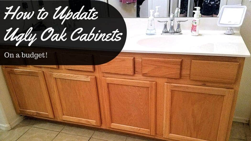 How To Update Ugly Oak Cabinets On A Budget And Cheeky