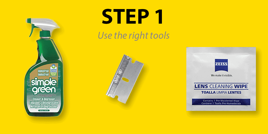Step 1: Use the right tools