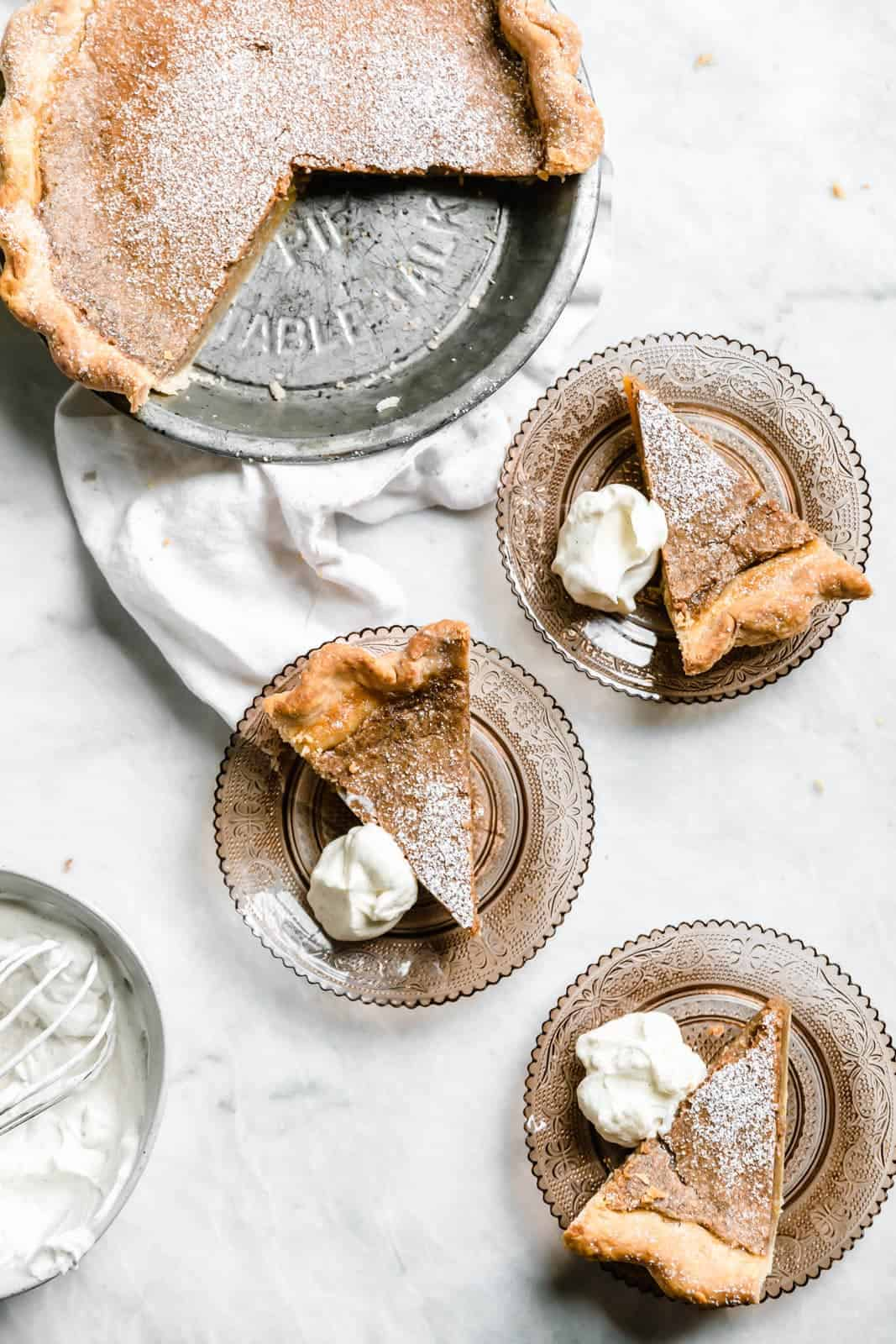 slices of Brown Butter Maple Chess Pie