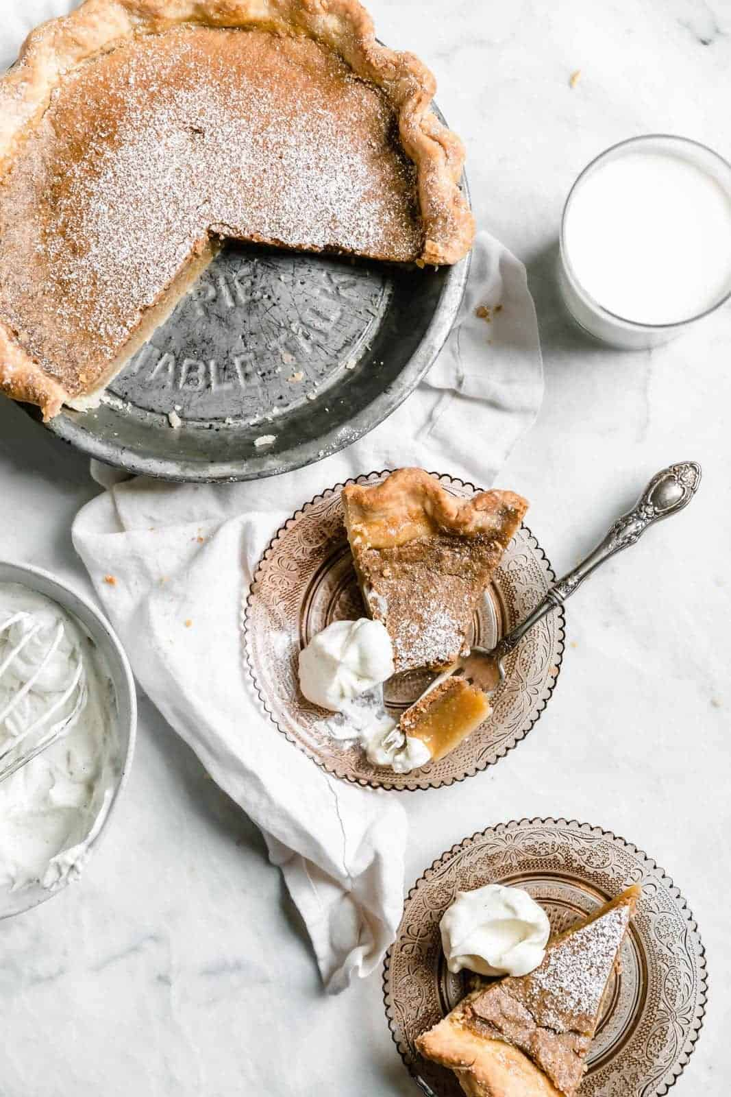Brown Butter Maple Chess Pie