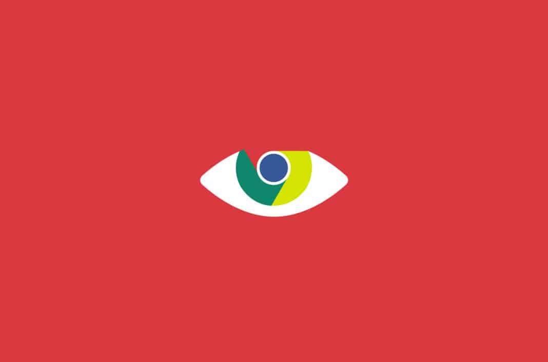 Chrome logo as an eye.