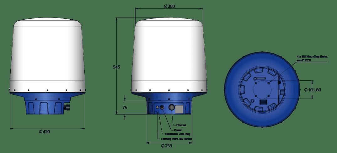 KTS radar dimensions image