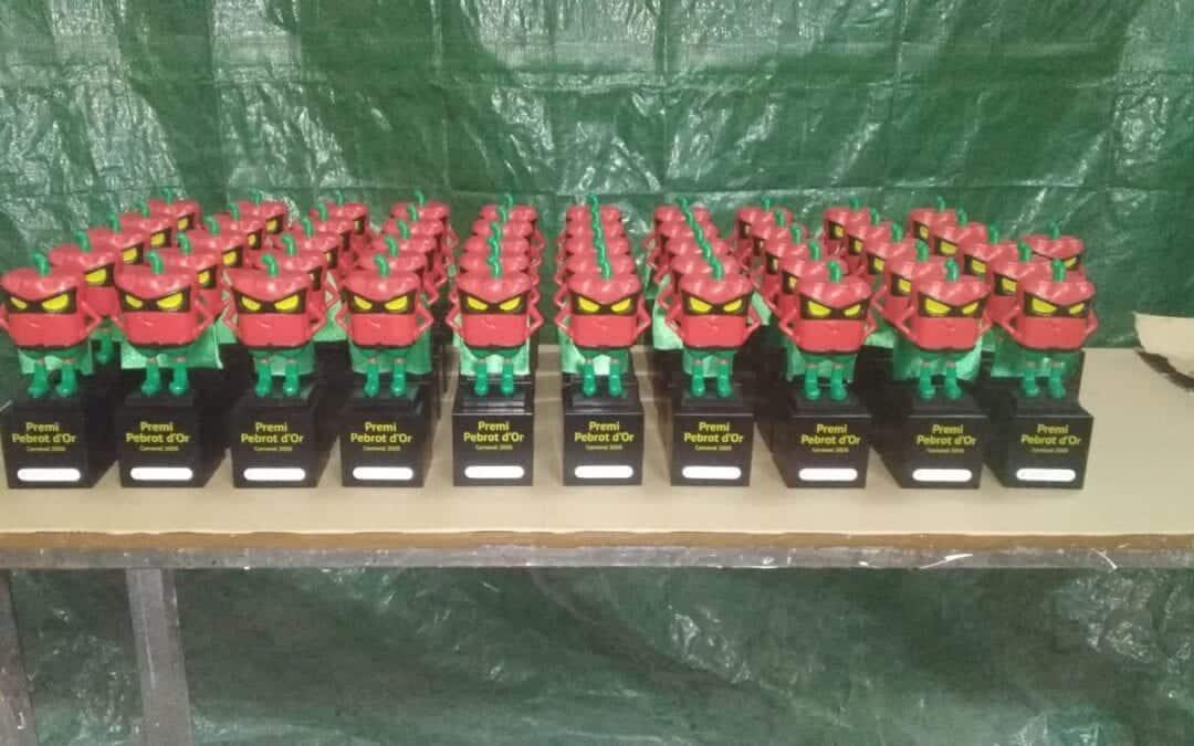 Reproducciones premio pebrot de oro resina