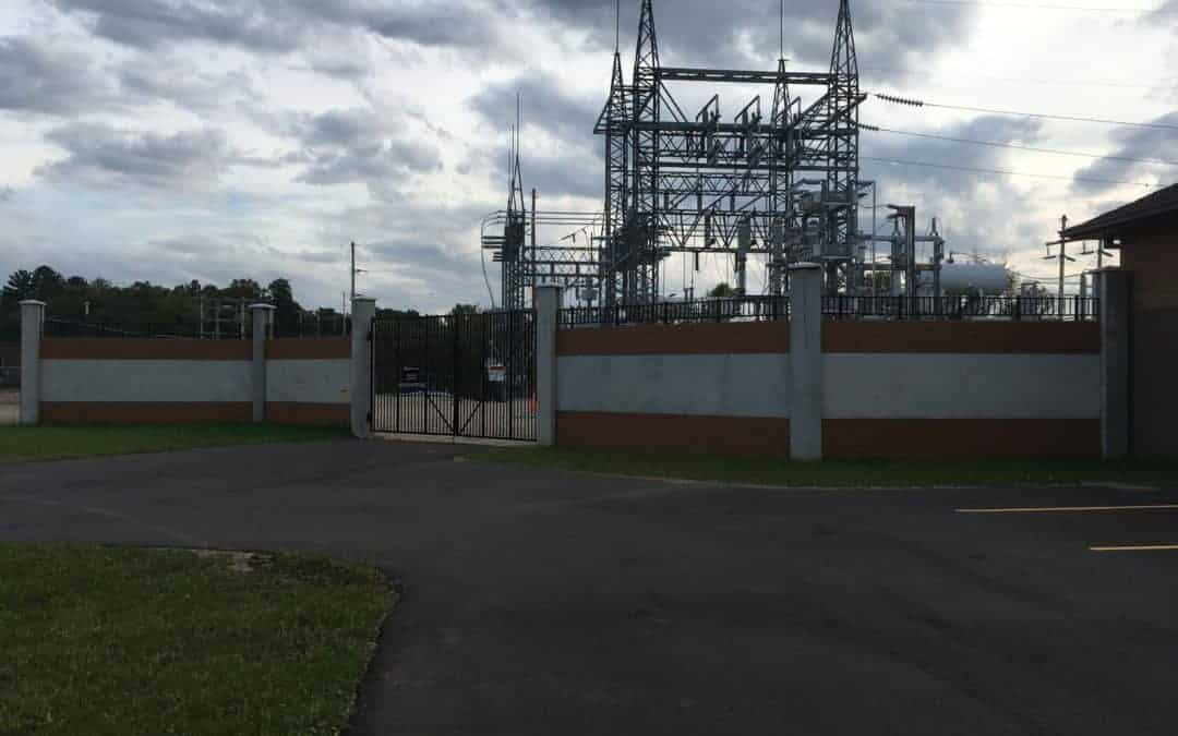 Electric Substation Security Wall