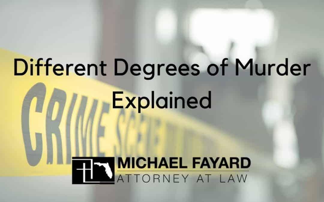 sarasota county criminal defense attorney, different degrees of murder