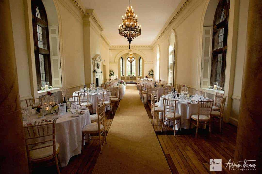 Image of reception room inside Clearwell Castle wedding venue.