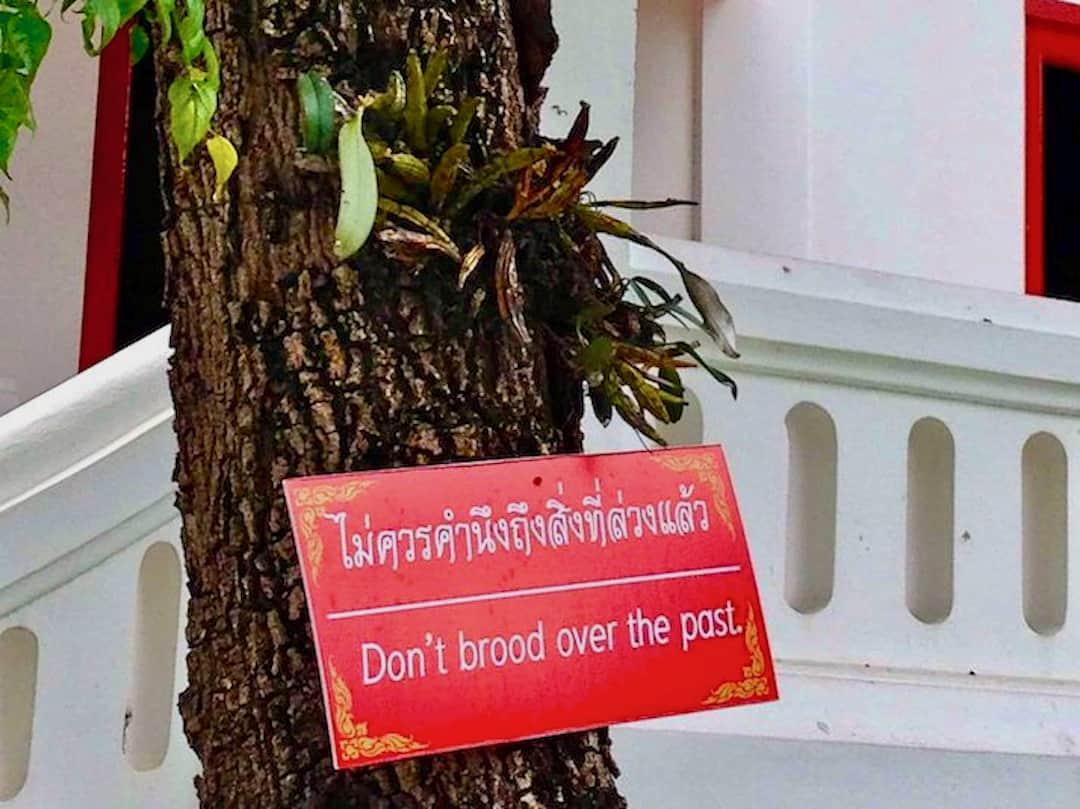 Schild in Chiang Mai in Thailand