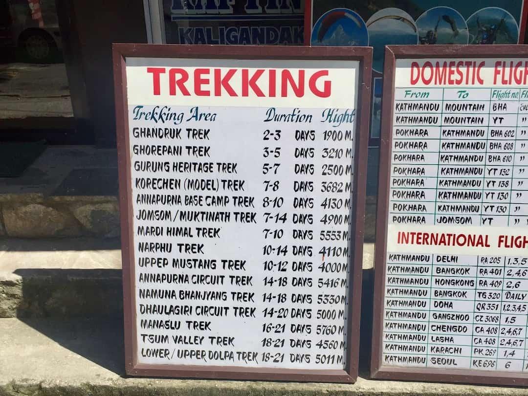 Trekking von Pokhara aus