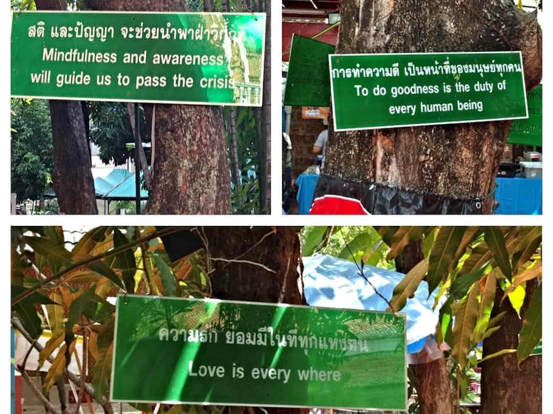 Schilder in Chiang Mai