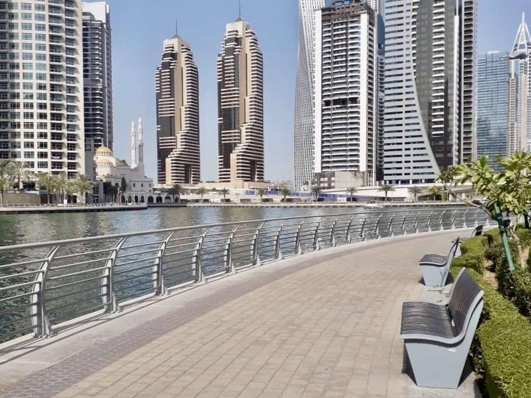 """Leben in Dubai: Auf dem """"The Walk"""" kann man spazieren gehen"""