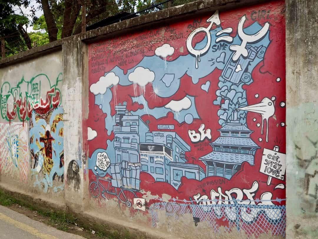 Streetart in Kathmandu von Sattya Media Arts Collective