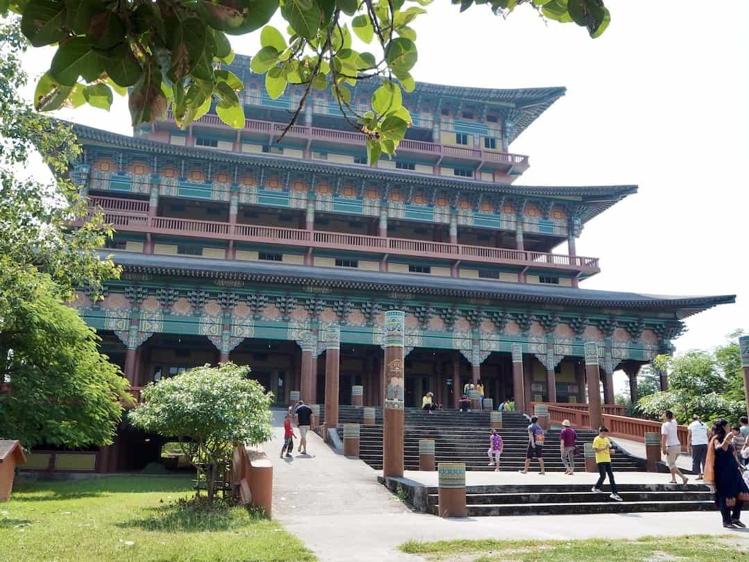 Der koreanische Tempel in Lumbini, Nepal