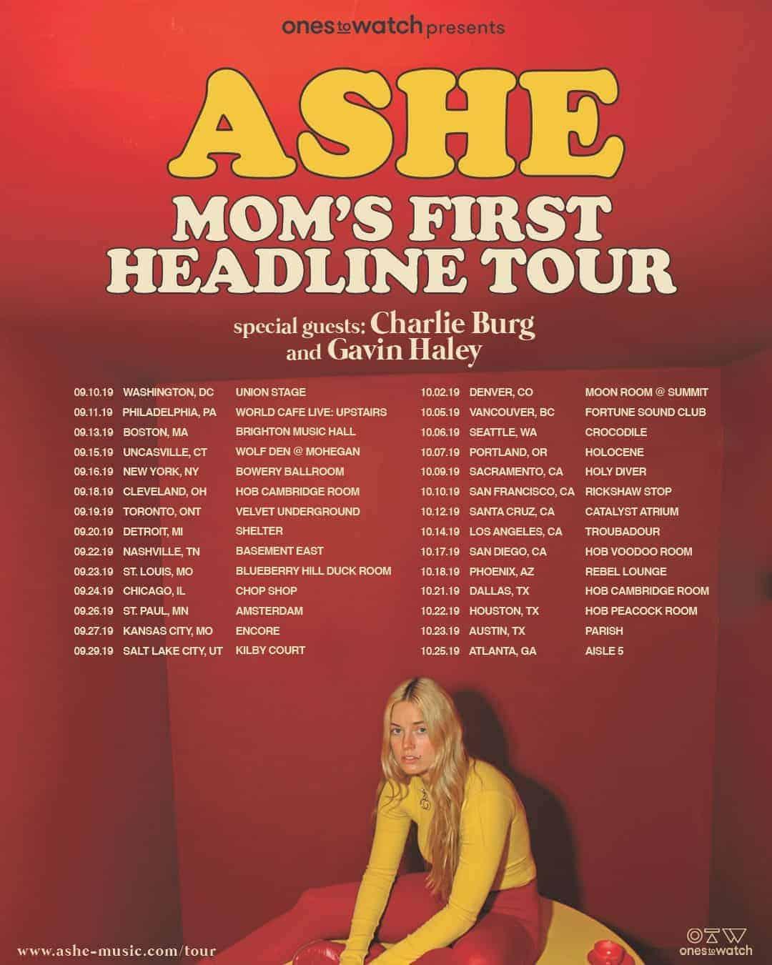 Ashe Headline Tour