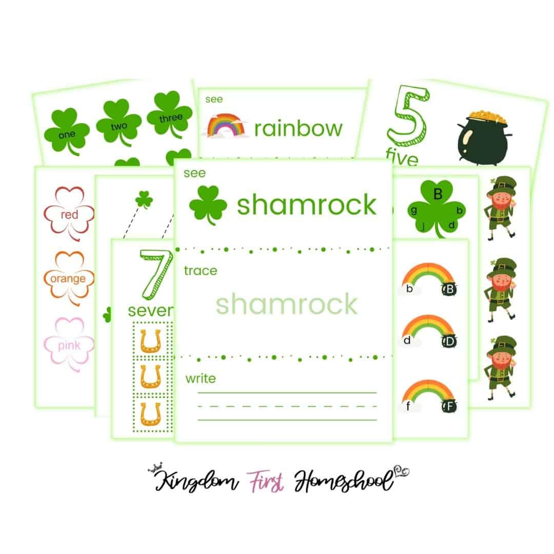 Free Saint Patrick's Day Printables for Preschoolers