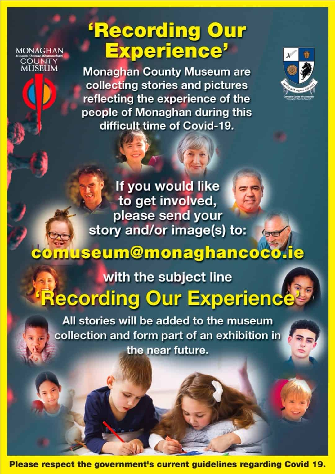 Monaghan County Museum wants to collect your experiences and stories about the Covid 19 Pandemic