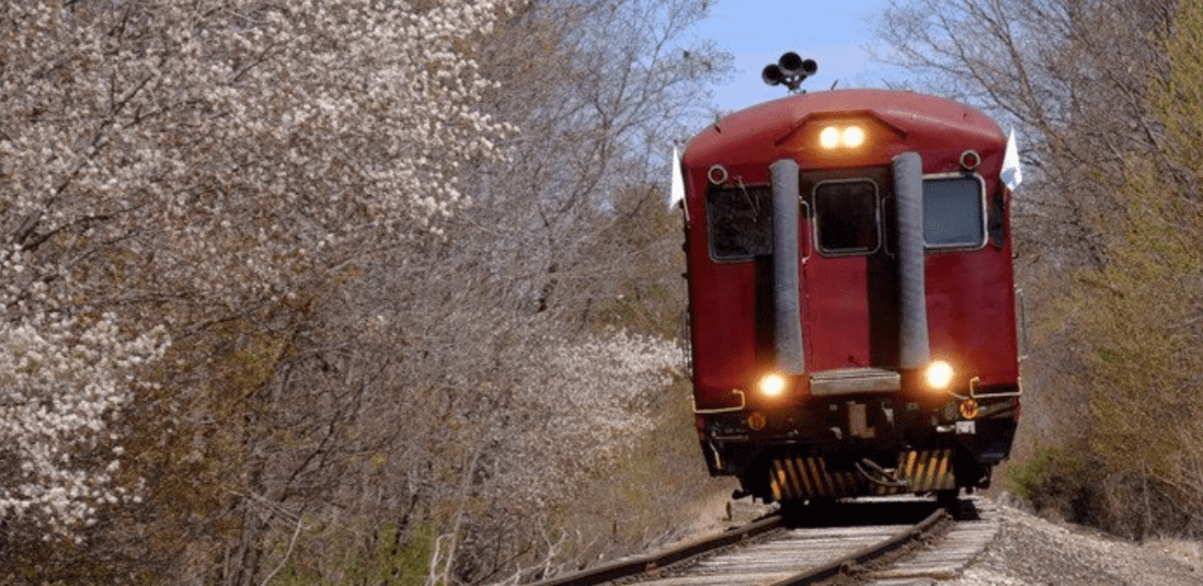 Conway Scenic Railroad in Spring