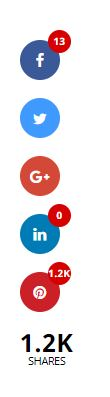 Social media share icons