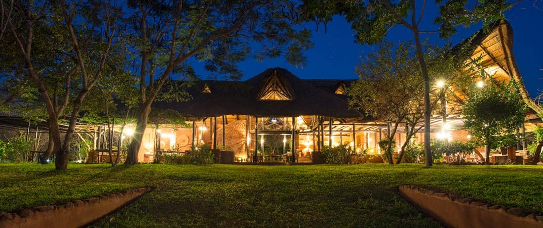 Stanley Safari Lodge At Night