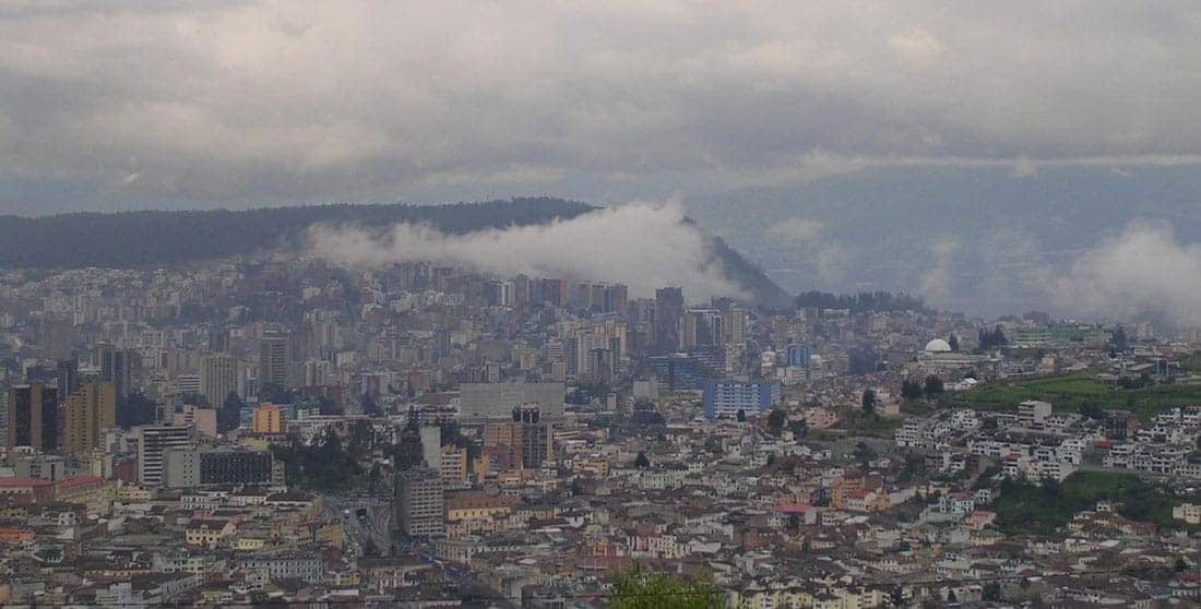 San Francisco de Quito or Quito for short, is the second most populous city (after Guayaquil) in Ecuador. Quito is also one of the highest capitals in South America. Image: CIA Factbook, public domain.