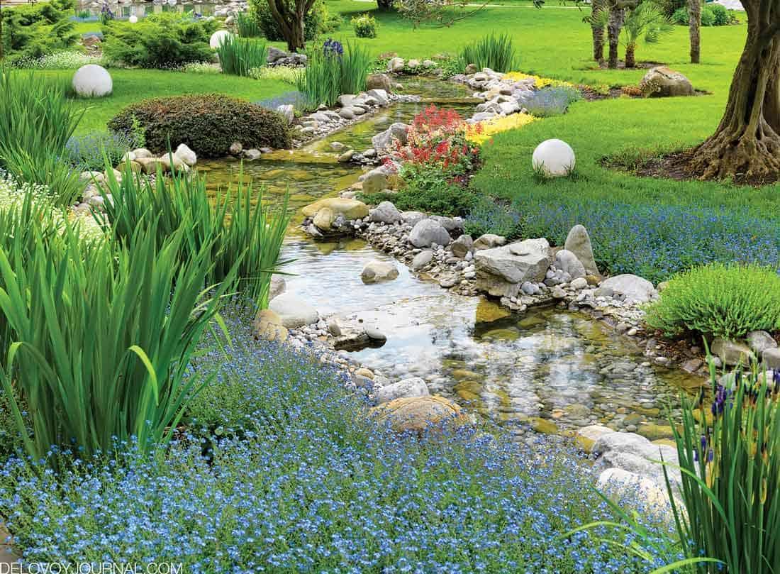 Водоемы в японском саду
