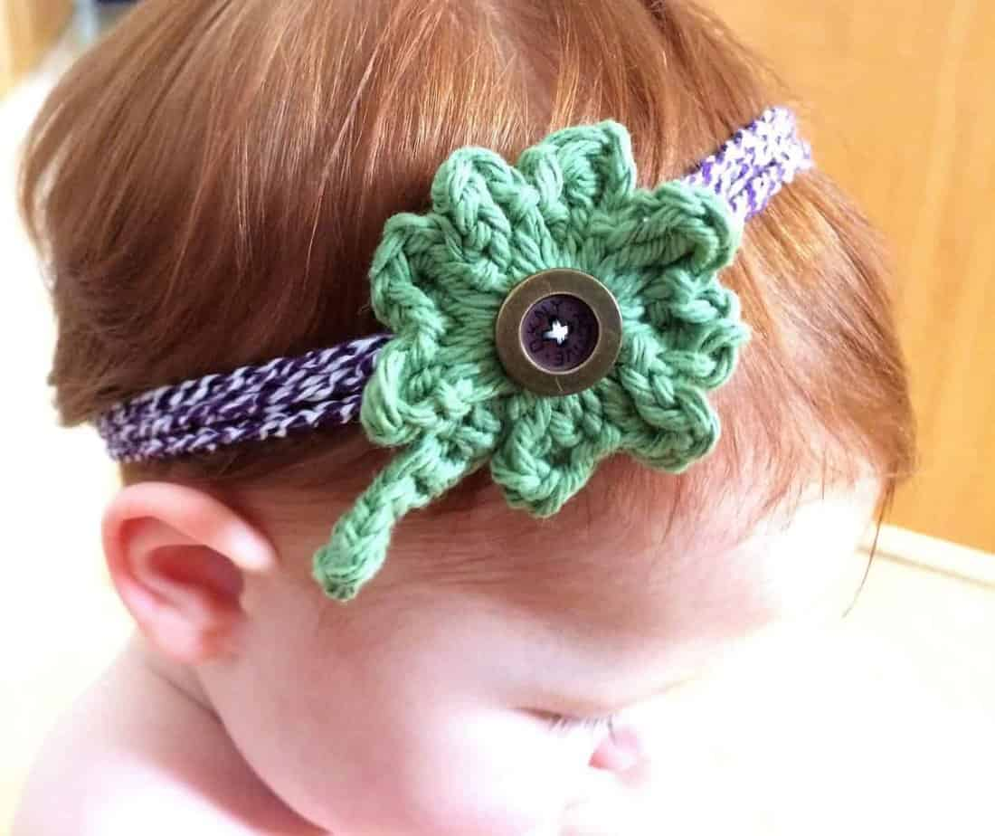 How to Crochet a Four Leaf Clover Crochet Headband