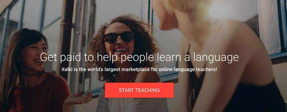 Italki teach English online and get paid