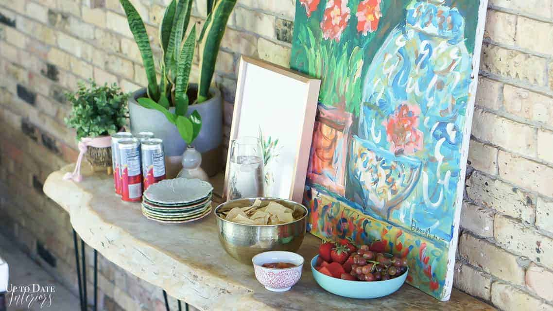 Bright Colorful Patio Table Setting 5