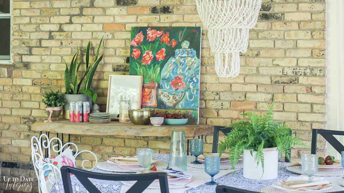 Bright Colorful Patio Table Setting 6