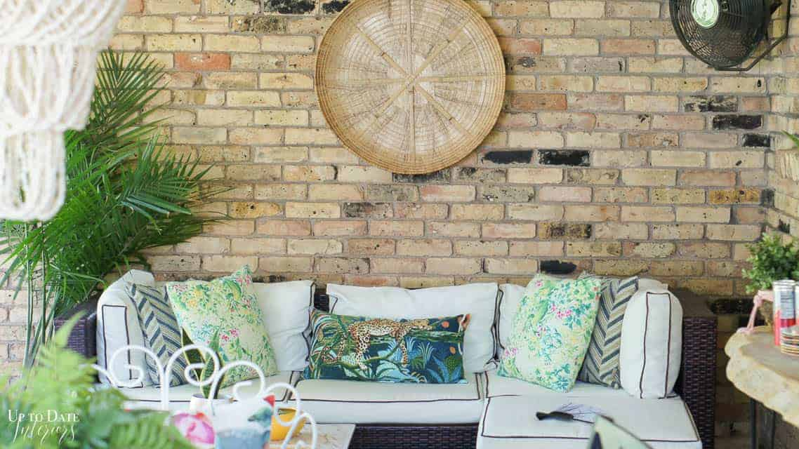 Bright Colorful Patio Table Setting 8