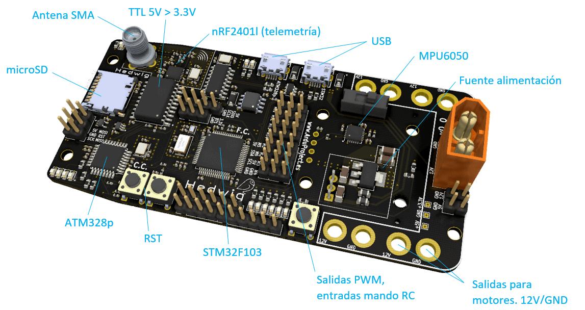 Curso diseño PCB | Controlador de vuelo con Arduino | Componentes del PCB