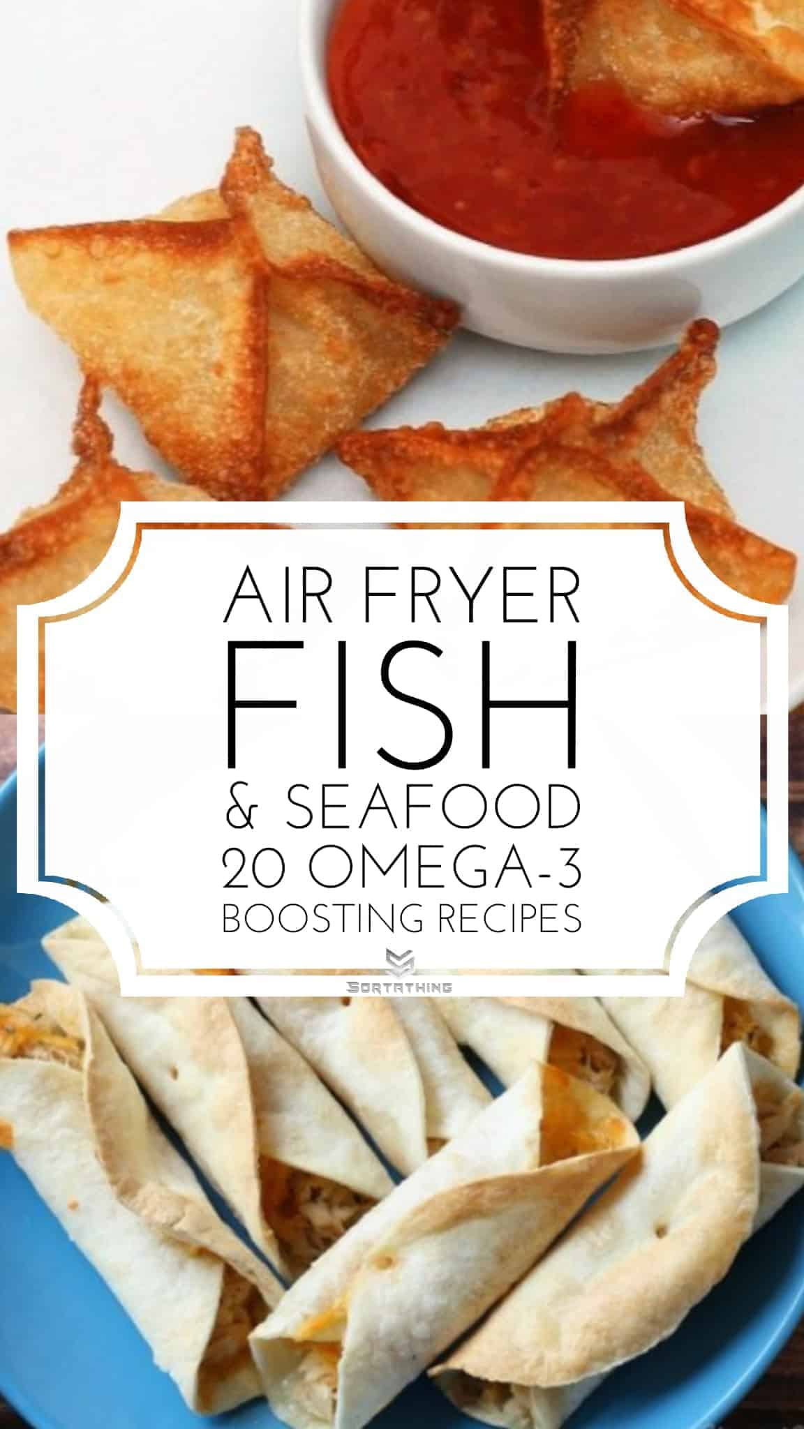 Air Fryer Crab Rangoon & Tuna Flautas