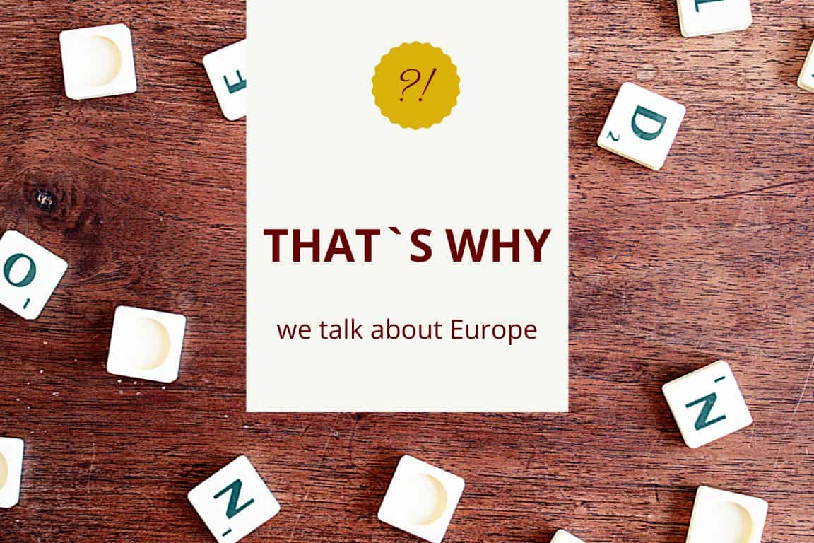 we talk about Europe