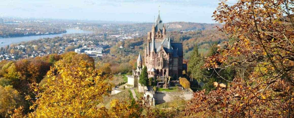 Drachenburg Castle - The best Fairytale castles in Southern Germany. Here's our guide to help you choose the best castles in southern Germany to visit on your Germany road trip. Here are our favourite castles in southern Germany! #castles #germany #wanderingbird #southerngermany #roadtrip #fairytale #castle #burg #cochem
