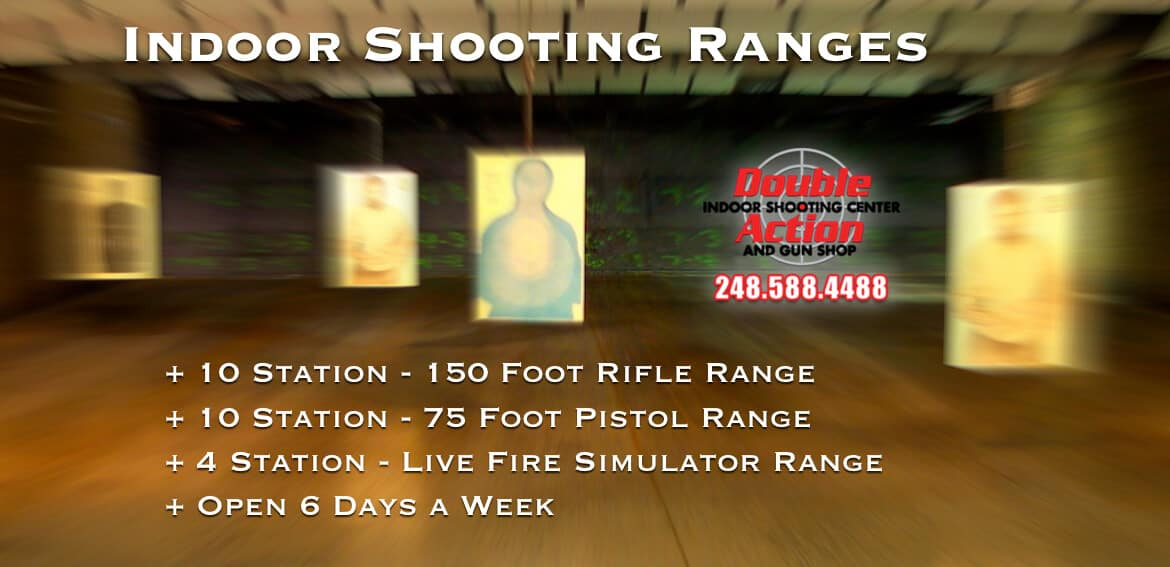 indoor shooting range at double action indoor shooting center & gun shop