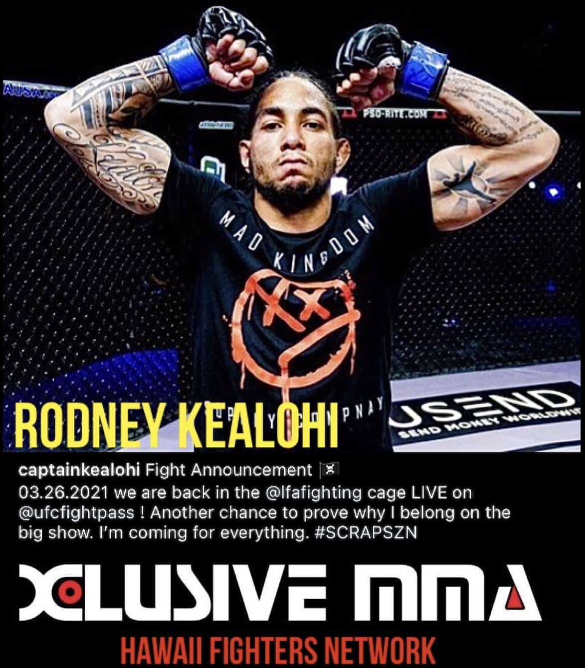 Hawaii MMA News:Rodney Kealohi upcoming bout in March