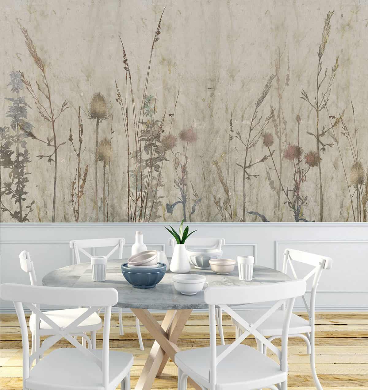 restauracja hotelowa tapeta na ścianę z roślinami