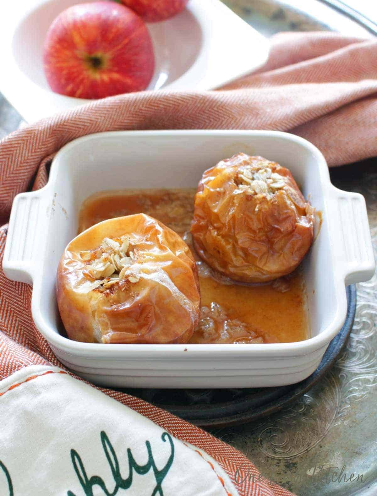 Easy Baked Apples Recipe Small Batch One Dish Kitchen