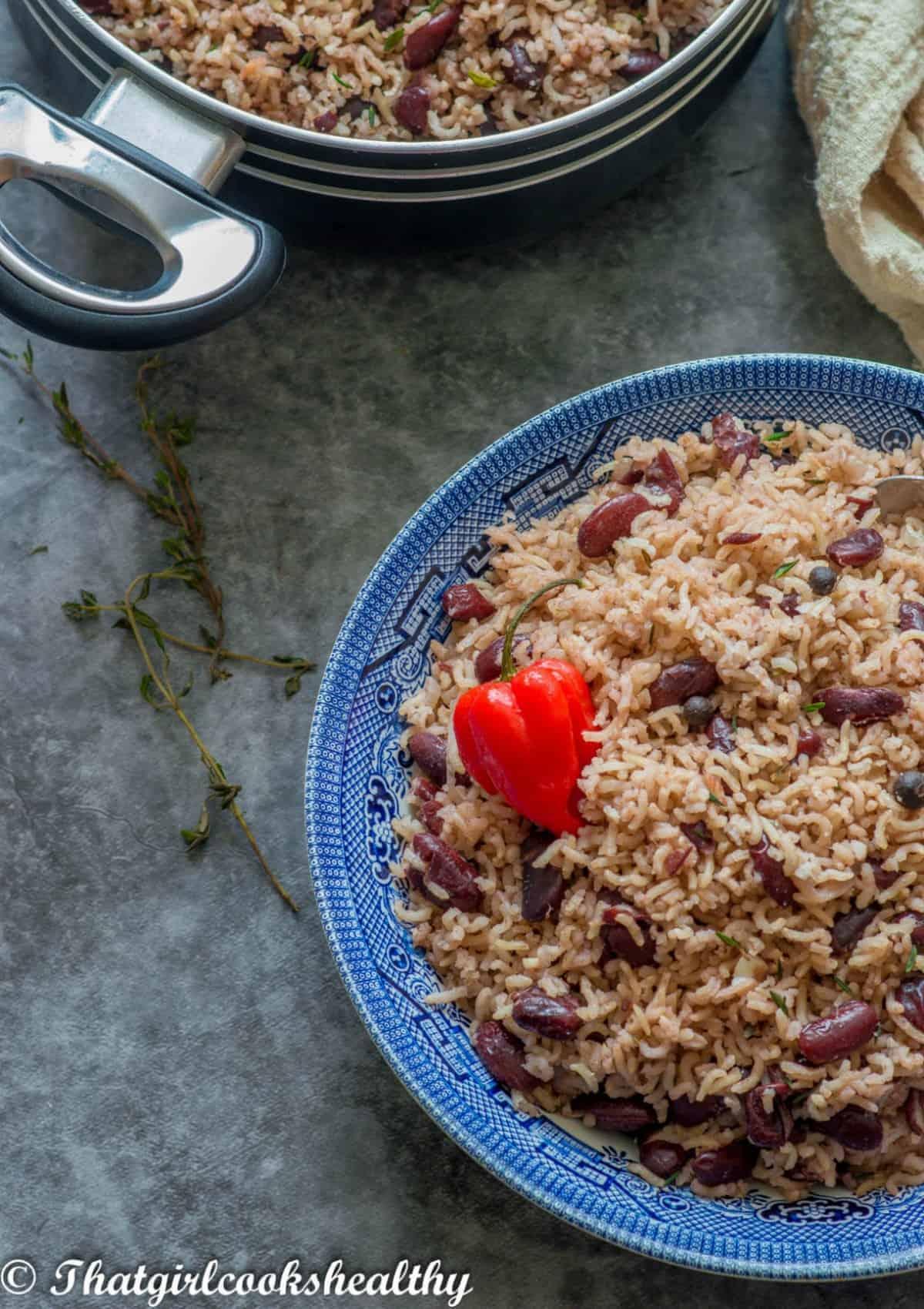 half a bowl rice