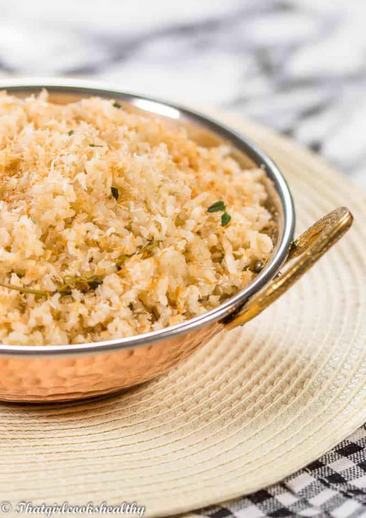 half a rice bowl